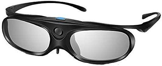 Elikliv 3D Glasses Active Shutter DLP Link Clip On Compatible with Optoma Benq Sharp Acer Samsung Projector (Pack 1)