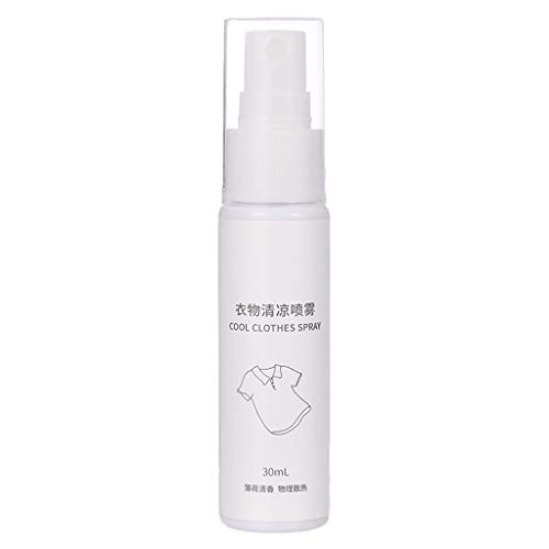Yowablo Kleidung Cool Spray Sommer Cool Spray Military TrainingTravel Personal 30ML (1Stck,A)
