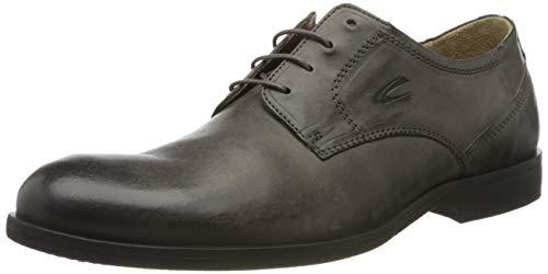 camel active Orlando, Zapatos de Cordones Derby para Hombre, Gris (Charcoal 02), 45 EU