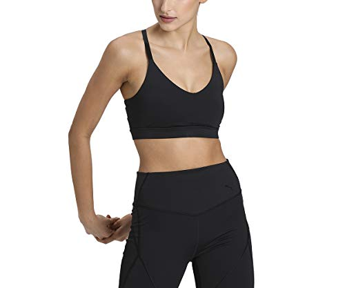 PUMA Low Impact Strappy Bra Sujetador Deportivo, Mujer, Black, L