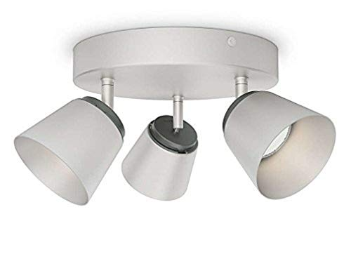 Philips 533431716 Dender Luminaire d'Intérieur Plafonnier avec 3 Têtes Aluminium 4 W