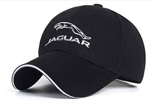 ANAISI Auto Sport Car Logo Adjustable Baseball Cap,Unisex Hat Travel Cap Car Racing Motor Hat for for Man,Women - Black (Fit Jaguar Black)