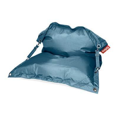 Fatboy Buggle-Up Beanbag   Le Pouf polyvalentI Banquette et Pouf en Un   180 x 140 cm   Polyester I Résistant aux UV, à l'eau et aux salissures I Jeans Bleu