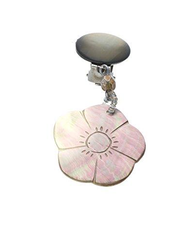 Langani Damen-Ohrclips galvanisiertes Metall Muschel facettierte Glasschliffperen 8,5 cm 10870 90