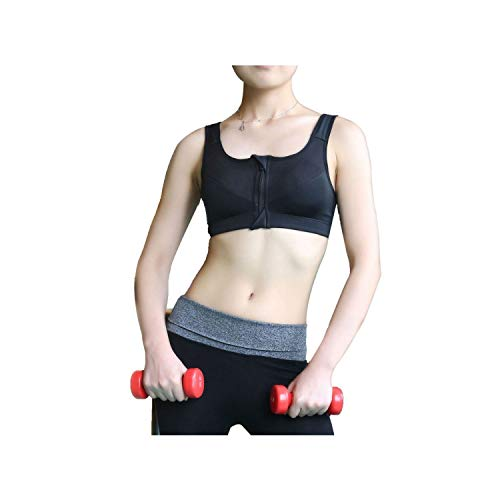 Colorful dress New Women Yoga Fitness Stretch Workout Tank Top Seamless Bra Zipper Sports Black