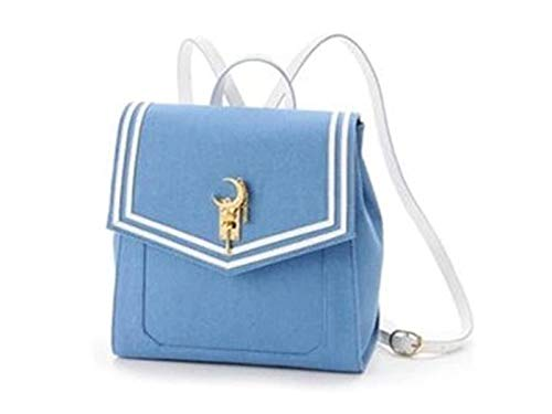 HiRudolph Anime Sailor Moon 20th Tsukino Usagi Women Backpack Bookbag Cosplay Schoolbag (Blue)