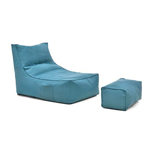 RENJUN- Sitzsack Design Mit Hoher Rückenlehne Füllen Sie Die Partikel Mit EPP Pedal Aufbewahrungstaschen Und Reißverschlüsse for Kinder Geeignet Junger Erwachsener 99 × 68 × 77 Cm ( Color : Blue )