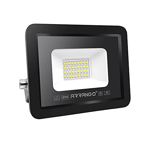 AOMEX Faretto LED da esterno 20W 2000Lumen Faro led Impermeabile IP65 per Giardino Cortile Illuminazione per Esterno/Interno alta luminosità (Naturale/4000k, 20W)