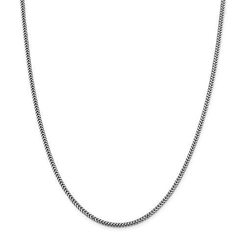 Collar de cadena Franco de oro de 14 quilates, 2,3 mm, regalo para mujer, 56 cm