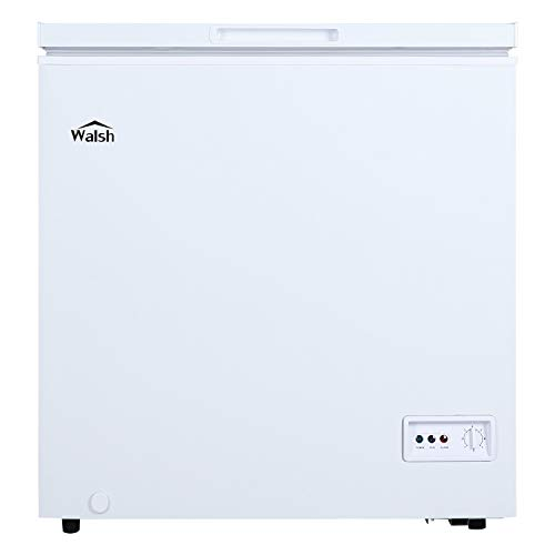 Walsh WSF50CWED01 Manual Defrost Deep Chest Freezer, Mechanical Temperature Control, 5.0 Cu.Ft, White, 5 Cu Ft
