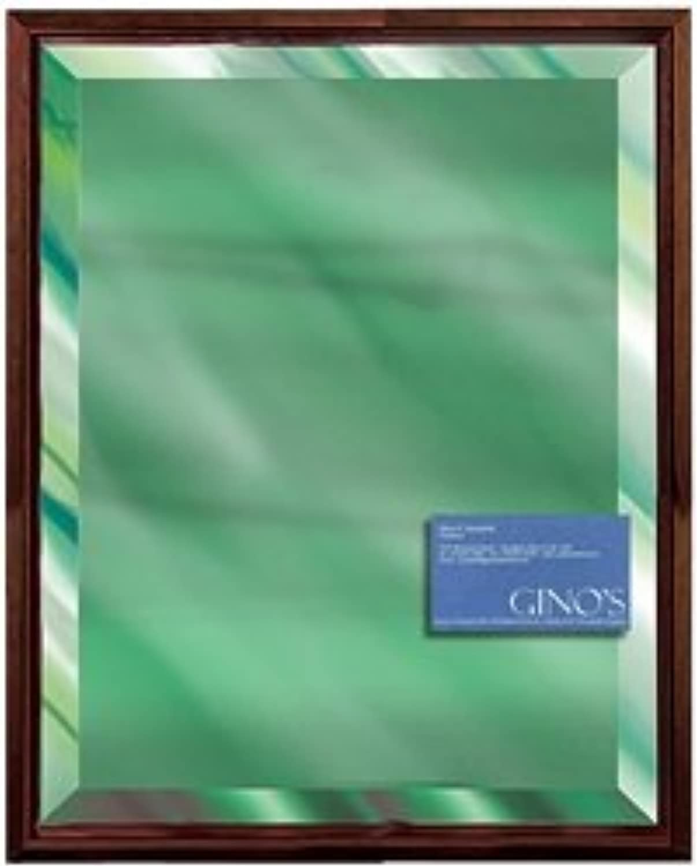 11 x 14 Green Mirror with Walnut FloMo Frame T1034-5062