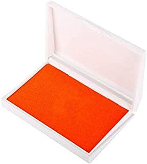 BalleenShiny Baby Handprint Footprint Imprint Kit Inkpad Non-Toxic Newborn Souvenirs Casting Ink Pad Infant Clay Toys Cute Gifts : Orange