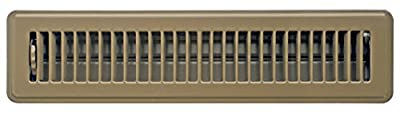 Accord ABFRBR214 Floor Register with Louvered Design, 2-Inch x 14-Inch(Duct Opening Measurements), Brown