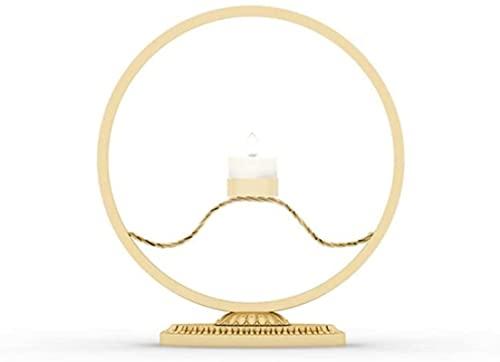 Nordic Candelkick Lámpara de Viento de Hierro Forjado Holdo de la Vela Hogar Soporte de exhibición de la casa de la Vela del hogar Regalo de la Boda Cena de la Cena Prop (Color: Negro)