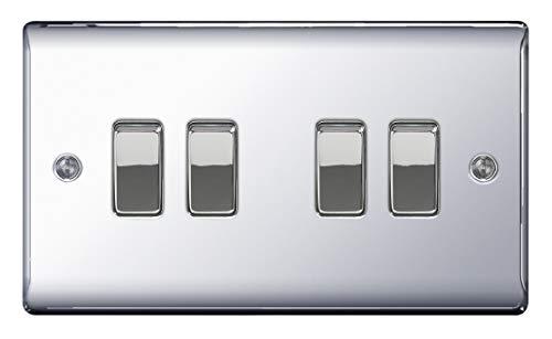 BG Electrical Kidde Rauchmelder mit Netzbetrieb, poliertes Chrom