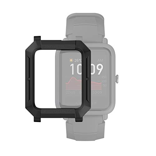 YANTAIAN para Huami Amazfit Bip Lite Versión 1S / S Caso Bip Reloj Elegante TPU Protector, Color: Negro