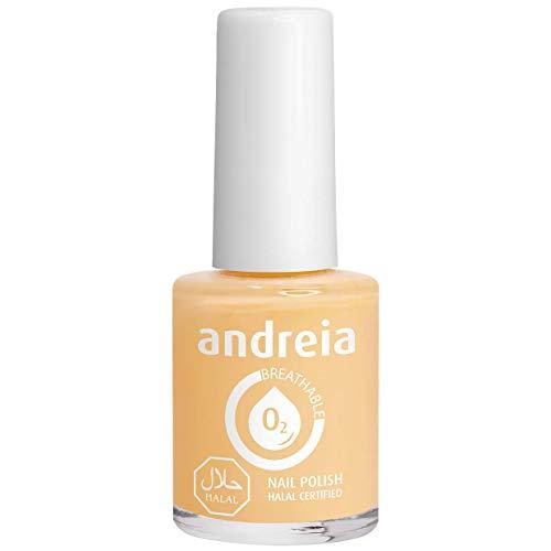 Andreia Halal Atmungsaktiver Nagellack - Wasserdurchlässig - B2 Gelb - Weiche Akte   10.5 ml