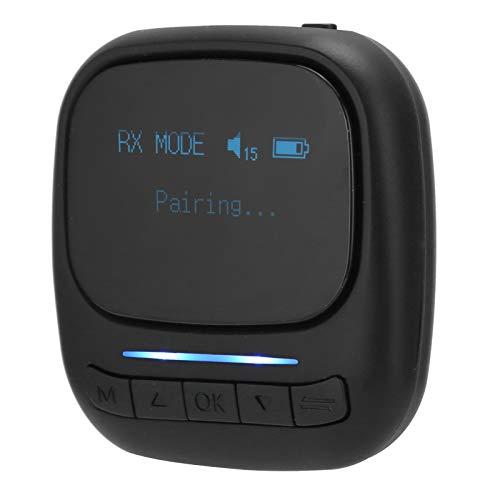 Tomanbery Receptor de transmisión Dual flexibilidad Transmisor Bluetooth Jack 3.5mm para TV PC Car Speaker