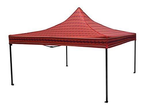 DZHTSWD Zelt Living Zelt Arabisch Stil Zelt Outdoor Falten Zelt Wüsten Stil Zelt Camping Zelt (Farbe: Rot, Größe: mit 3 umgebenden Tuch) (Color : Red, Size : with 3 Surrounding Cloth)