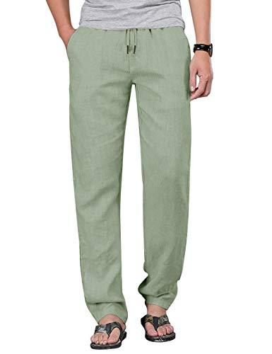 Men's Leisure Pants Elastic Waist Casual Sport Pants Yoga Pants Green XXL