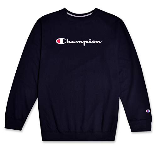 Champion Sweatshirt Mens Big and Tall Logo Sweater Crewneck Sweatshirt Navy 2X