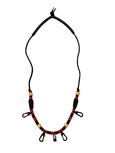 Ultimate Fly Fishing Lanyard - Red & Black - PRO Style - Replace The...