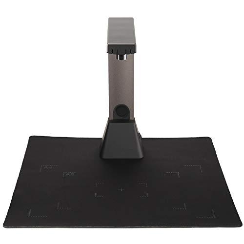 Owenqian Scanner Scanner A4 Format Paiyi 1 Deuxième Prise de Vue Multi-Image simultanée Numérisation et Coupe pour Bureau Présentation Education (Couleur : Metallic, Taille : 290X320X260MM)