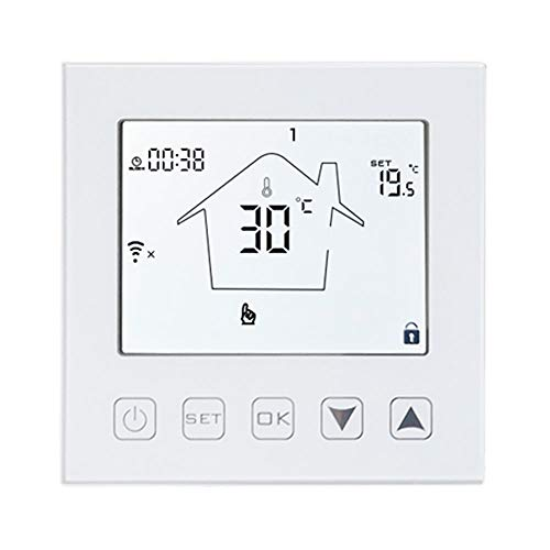 KETOTEK WiFi Thermostat Fußbodenheizung Elektrische Intelligent mit fühler 16A, Alexa Echo Google IFTTT Tuya Smart Raumthermostat Elektroheizung, Thermostatregler Sprach und APP Steuerung WLAN