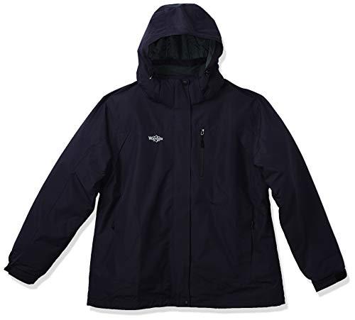 Wantdo Women's 3-in-1 Ski Jacket Hooded Snowboarding Jacket Mountain Winter Coat Dark Purple M