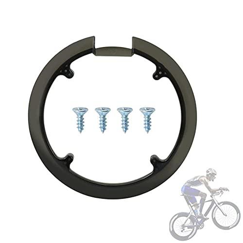 Protector de cadena de bicicleta, protector de plato de bicicleta, cubierta de piñón de bicicleta, juego de bielas de rueda de cadena de plástico, 42 dientes 44 dientes universal con 4 tornillos