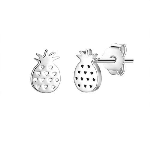 Glanzstücke München Damen-Ohrstecker Ananas Sterling Silber - Ohrringe Symbol mini Ohr-Schmuck echt Silber