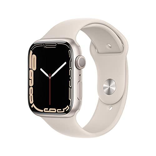Apple Watch Series7 (GPS) Cassa 45mm in alluminio color galassia con Cinturino Sport color galassia - Regular