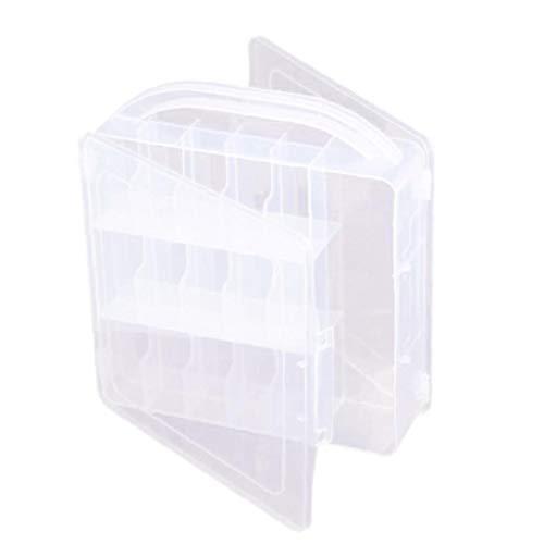 Esmalte de uñas caja de almacenamiento titular de uñas de arte caso de almacenamiento de cosmética Display organizador del envase portátil divisor 30 de rejilla con mango transparente