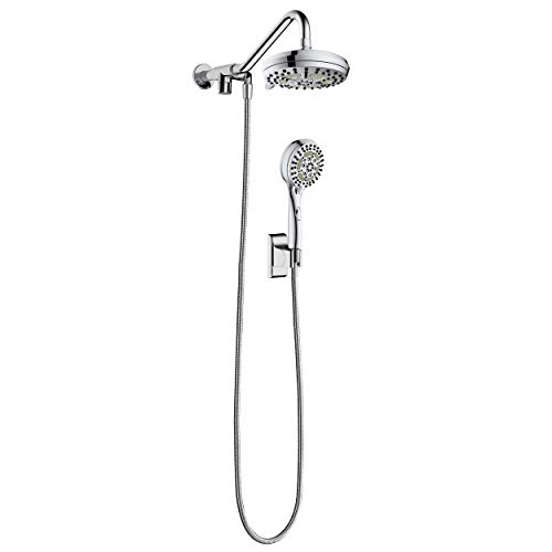 """PULSE ShowerSpas 1053-CH Oasis Shower System with 5-Function 7"""" Showerhead, 6-Function Hand Shower, Polished Chrome Finish"""