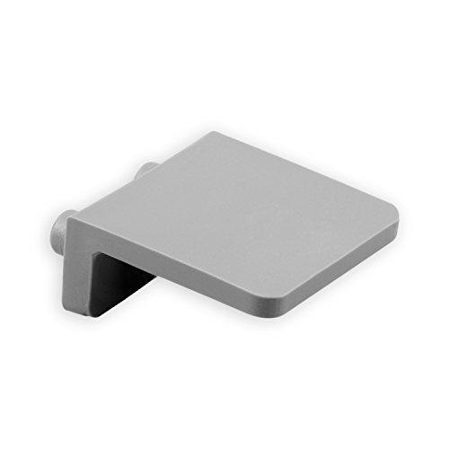 DIWARO® Anschlagwinkel | Farbe grau, dunkelbraun oder weiß | Material Kunststoff | für Endleiste, Endschiene | Rolladenpanzer | mit Zapfen (grau)