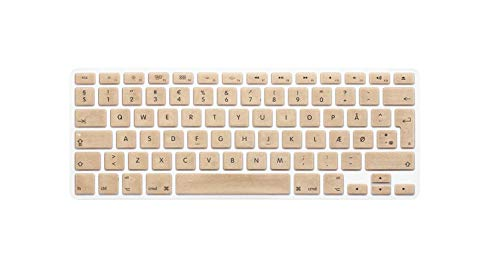 Denmark keyboard cover For macbook pro13 retina 15 air13.3 EU-Enter A1466 A1502 A1398 A1278A1286 keyboard cover Protective film-Gold