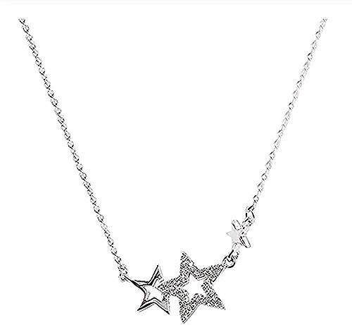 CCXXYANG Co.,ltd Collar Joyas Boho Crystal Star Gargantilla Collares para Mujeres Boda Chica Declaración Joyería Colgante Collar Regalo para Mujeres Hombres Niñas Niños