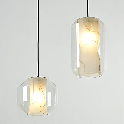 YUNZI LED Vaso Colgante De Luz, Moderno Regulable Interior Cuarto Lámpara De Techo Elegante Salón Sala Iluminación Colgante para Comedor Cocina Oficina Sala Elegante Lámpara Colgante,c