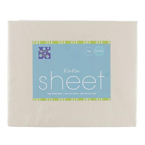 KicKee Home Woven Viscose from Bamboo Sheet Set - Buttery Soft Hypoallergenic Bedding, Temperature Cooling for Ultimate Comfort on Our Heavenly Sheets - Best 300 Thread Count (CA King, Natural)