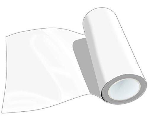 POLI-FLEX PREMIUM Flexfolie Meterware 50 Farben Textil-Bügelfolie, Breite:50 cm, Farbe:401 WHITE
