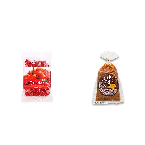 [2点セット] 収穫の朝 さくらんぼグラッセ ラム酒風味(180g)・ゆずみそ(130g)