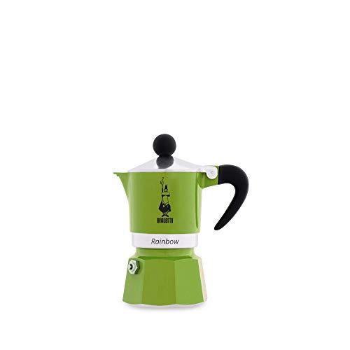Bialetti Rainbow Espressokocher, Aluminium, Grün, 1 Tasse