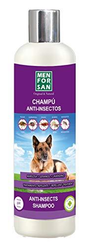 MENFORSAN Champú Perros Anti-Insectos con Margosa, Geraniol Y Lavandino - 300 ml