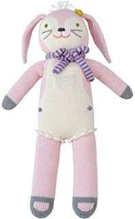 Blabla Fleur The Bunny Plush Doll - Knit Stuffed Animal for Kids. Cute, Cuddly & Soft Cotton Toy. Perfect, Forever Cherished. Eco-Friendly. Certified Safe & Non-Toxic.