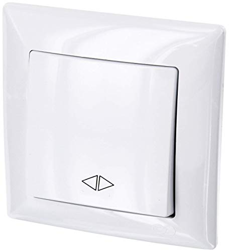 Interruptor en cruz UP todo en uno, marco + inserto empotrado + cubierta (serie G1 blanco puro)