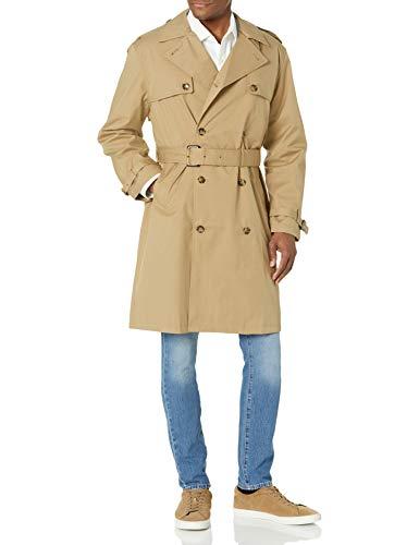 LONDON FOG Herren Men's Stretch Trench Coat Trenchcoat, Lt Khaki, Klein