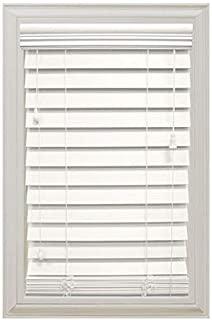 Home Decorators Collection White 2-1/2 in. Premium Faux Wood Blind - 47 in. W x 64 in. L (Actual Size is 46.5 in. W x 64 in. L) (1 Pack)