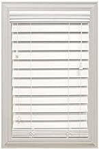 Home Decorators Collection White 2-1/2 in. Premium Faux Wood Blind - 35 in. W x 48 in. L (Actual Size is 34.5 in. W x 48in. L)