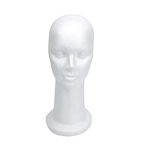 15' Styrofoam Foam Mannequin Manikin Display Head Wig Hat Stand White Foams Sale