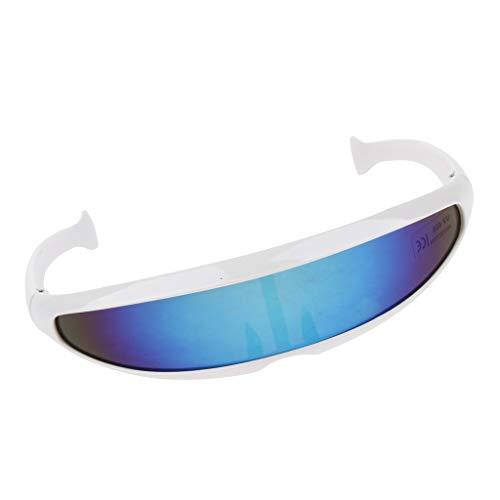 Herren verspiegelt Sonnenbrille Sportbrille Schutzbrille Arbeitsbrille für Alltag Reise Sport - 02